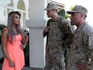 Army Officer Makes Soldier To Give A Oral Job To Fucking Hot Wifey Mercedes Carrera