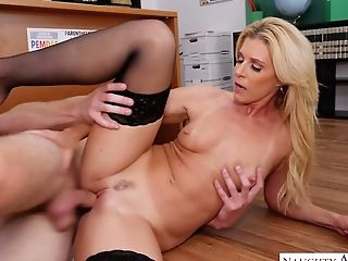 Insane Student Lures His Curvy Blonde Tutor For Some Hot Quickie