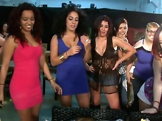Sandy-haired Honey Fucking In Front Of Other Ladies