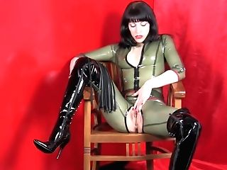 Spandex Catsuit And Boots