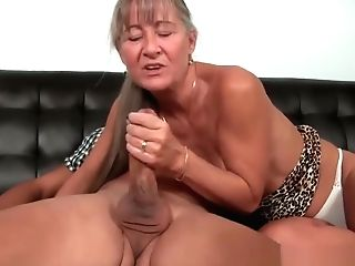 Longhair Matures Lady Wanks Off Junior Boy