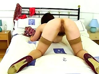 Matures Dark Haired Took Off Her Sundress And Undies And Displayed Her Hairy Fuckbox To The Camera