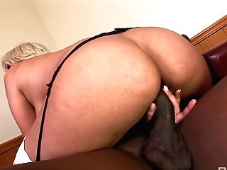 Mega Buxomy Blonde Bridgette B Is Hungry For Big Black Penis