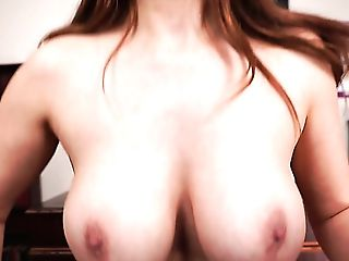 Horny Is An Understatement Here And This Big-boobed Honey Loves Playing With Her Tool