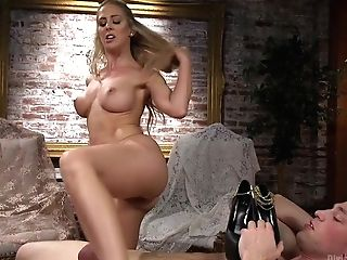 Sexy Powerful Woman Cherie Deville Fucks Obedient And Makes Him Gobble Coochie