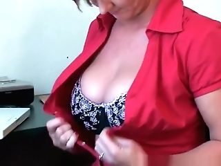 Classy Granny Plays With Her Fuck Stick Collection