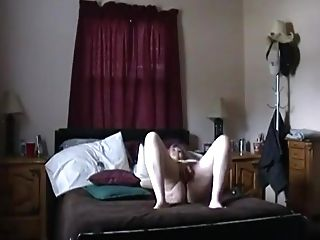 Kim Bates Strips Naked. Plays With Fresh Plaything.