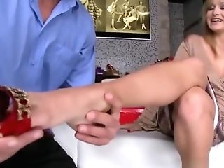 Natural Tits Sex Industry Star Foot And Jizz Flow