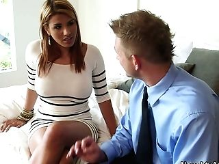 Huge-chested And Bootylicious Brown-haired Anita Toro Desires To Win A Dick For A Fuck