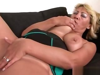 Massive Titted Blonde Mummy Never Had A Big Black Cock Before