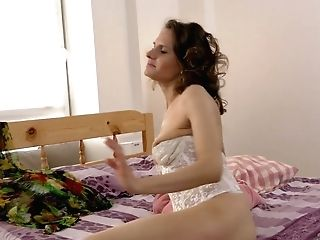 Housewife In Stockings Princess Mustang Is Frolicking Her Gross Hairy Snatch
