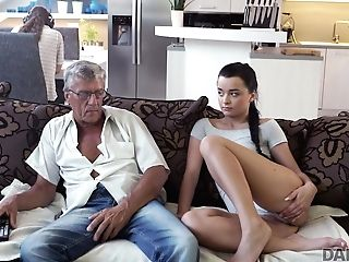 Daddy4k. Old And Youthfull Paramours Have Spontaneous Hook-up Behind...