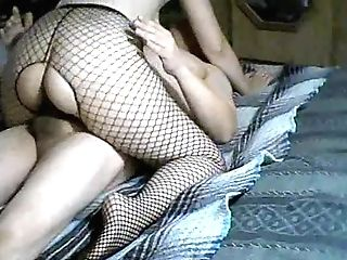 My Gf On Top !! Cowgirl !! Making Me Spunk !! #fishnet