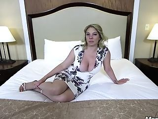 Voluptuous Blonde Woman Is Getting Her Daily Dose Of Fuck In A Motel Room, From A Stranger
