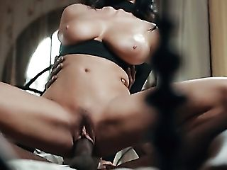 Bosomy Sexpot Anissa Kate Gives Bj And Rails Fat Big Black Cock Of Her Stud